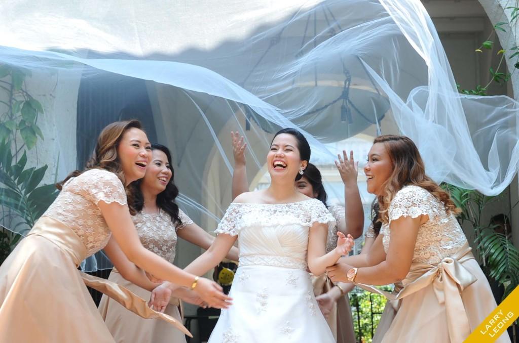 bridesmaid happy