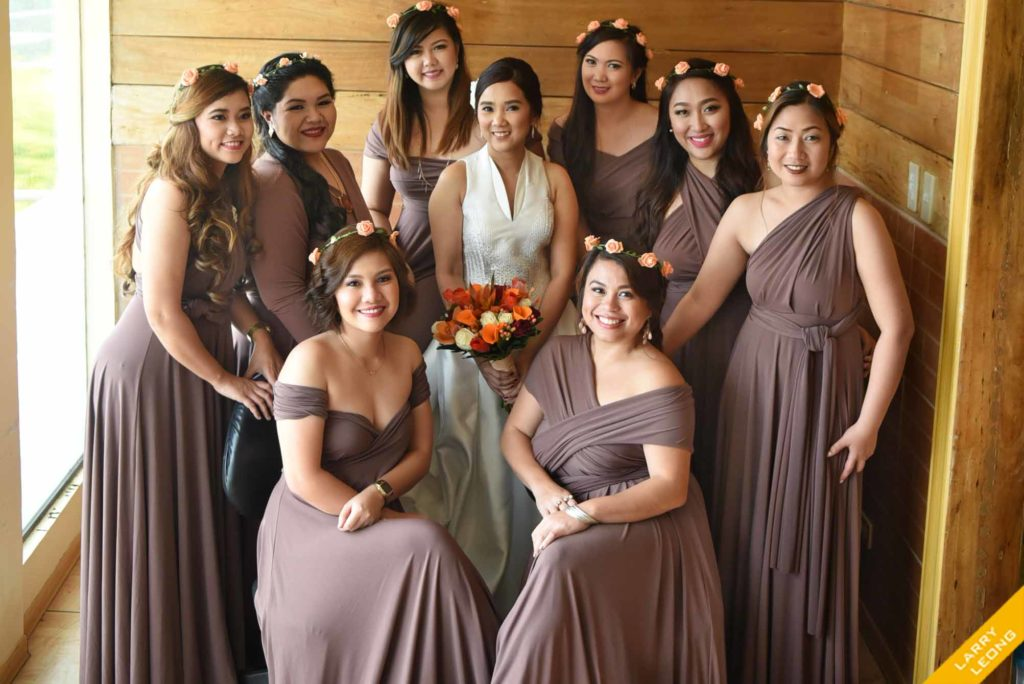 bridesmaid brown dress