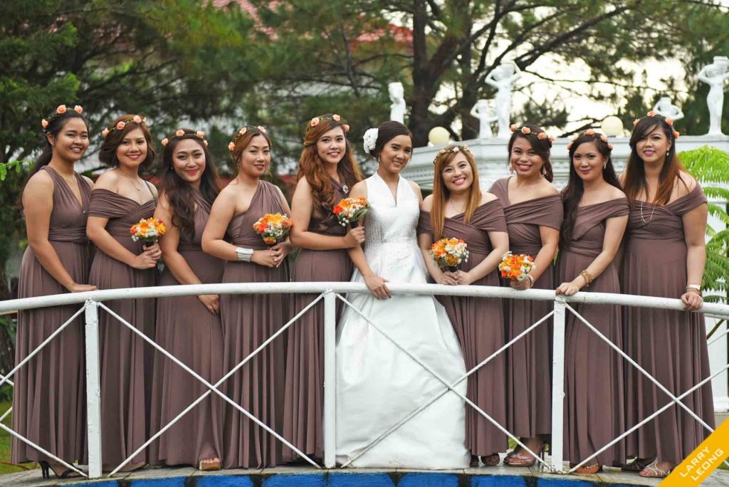 bridesmaid wedding church