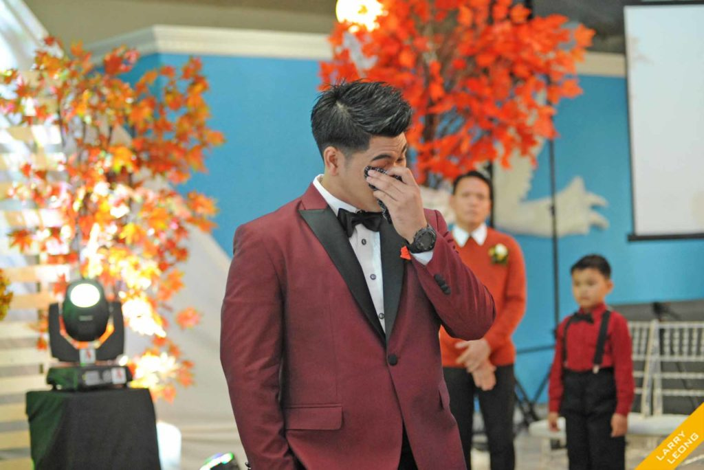groom cried