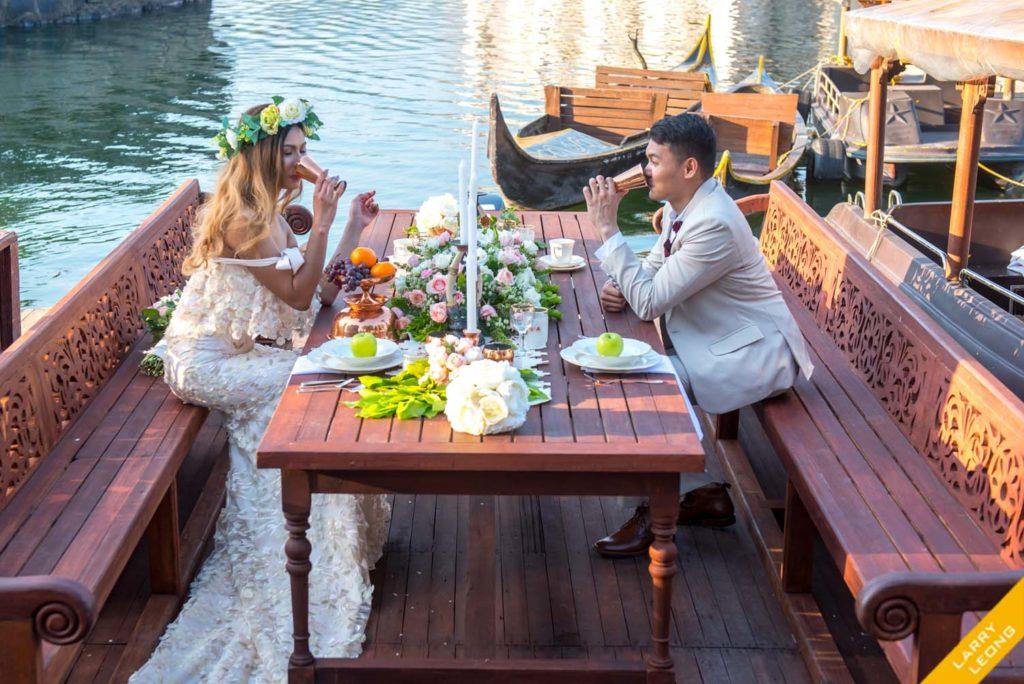 las casas wedding