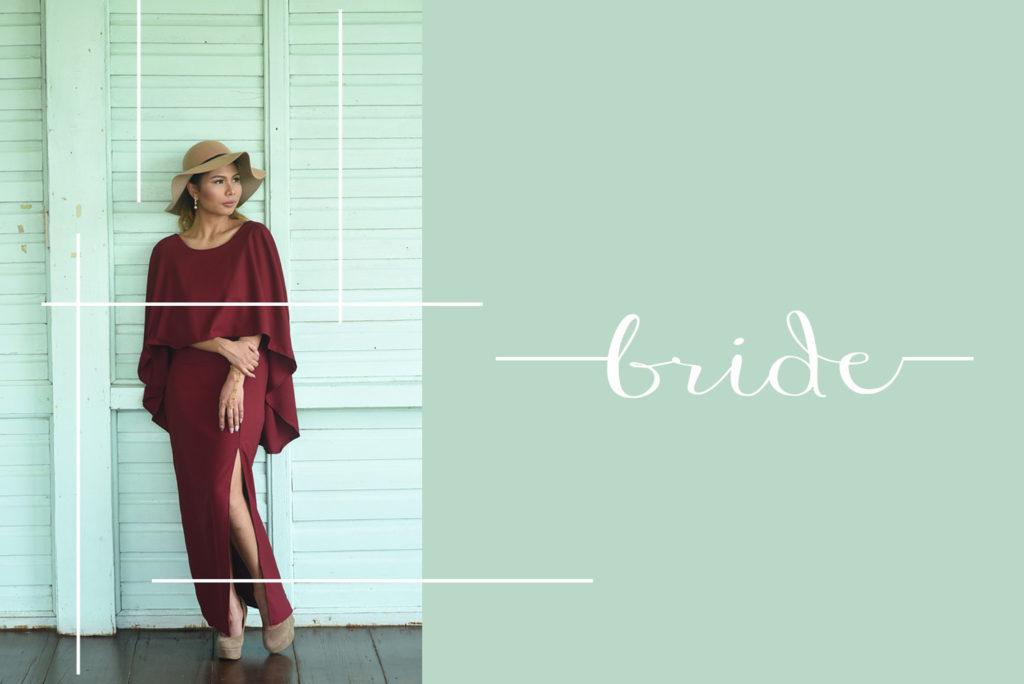 modern wedding bride