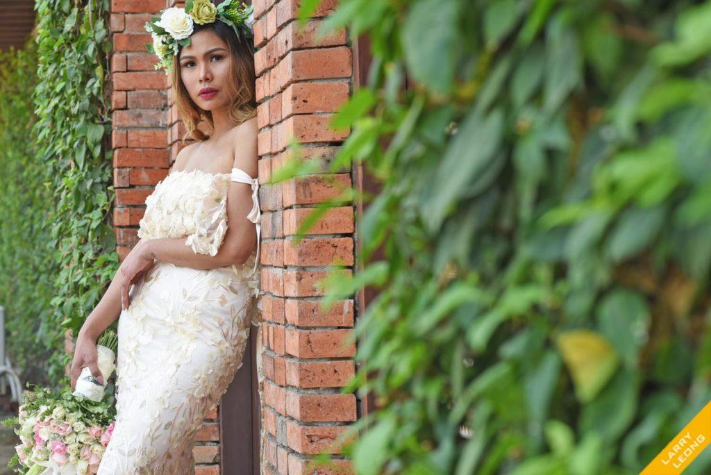 wedding gown by frankie de leon
