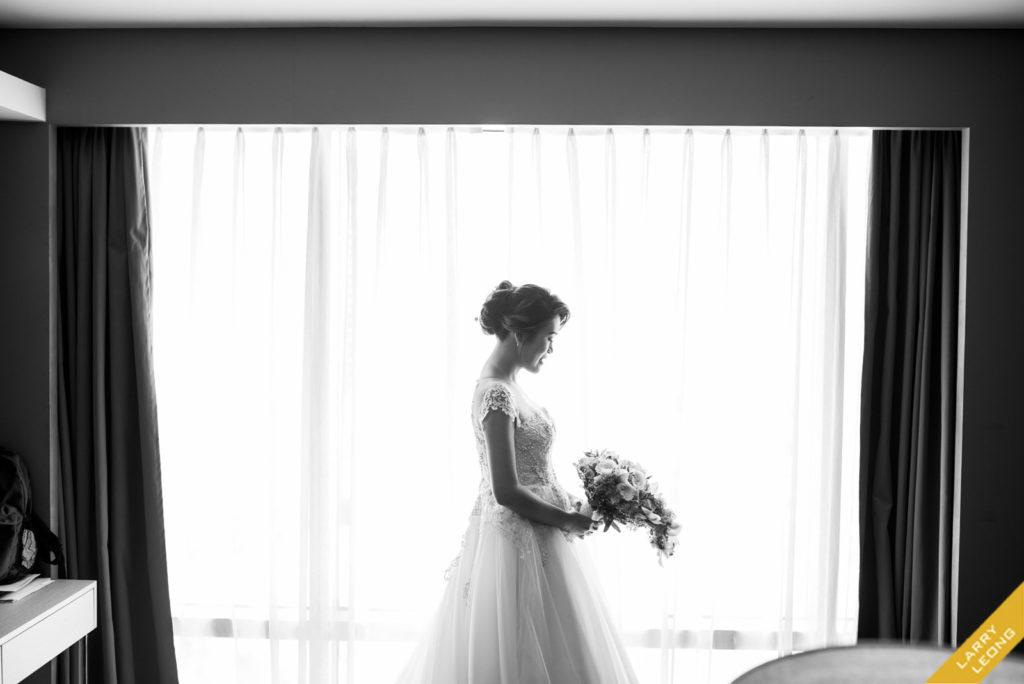 monochrome wedding