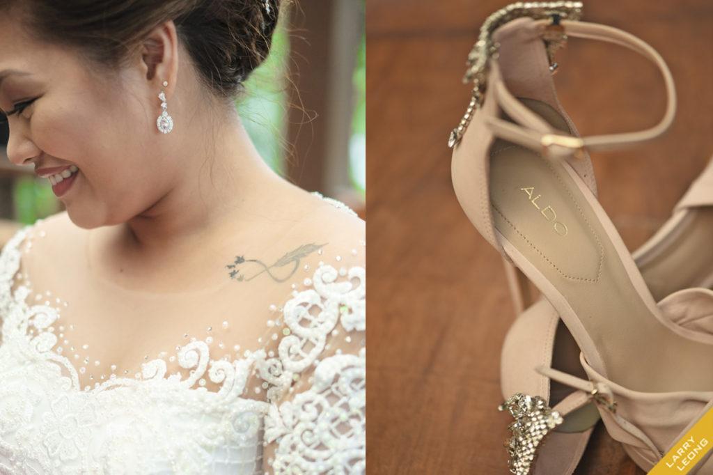 earrings wedding shoes