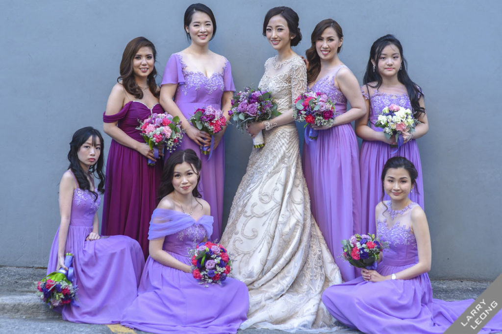 bridesmaids beautiful gowns