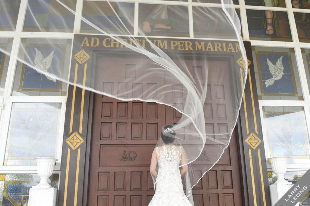 joyful bride walk