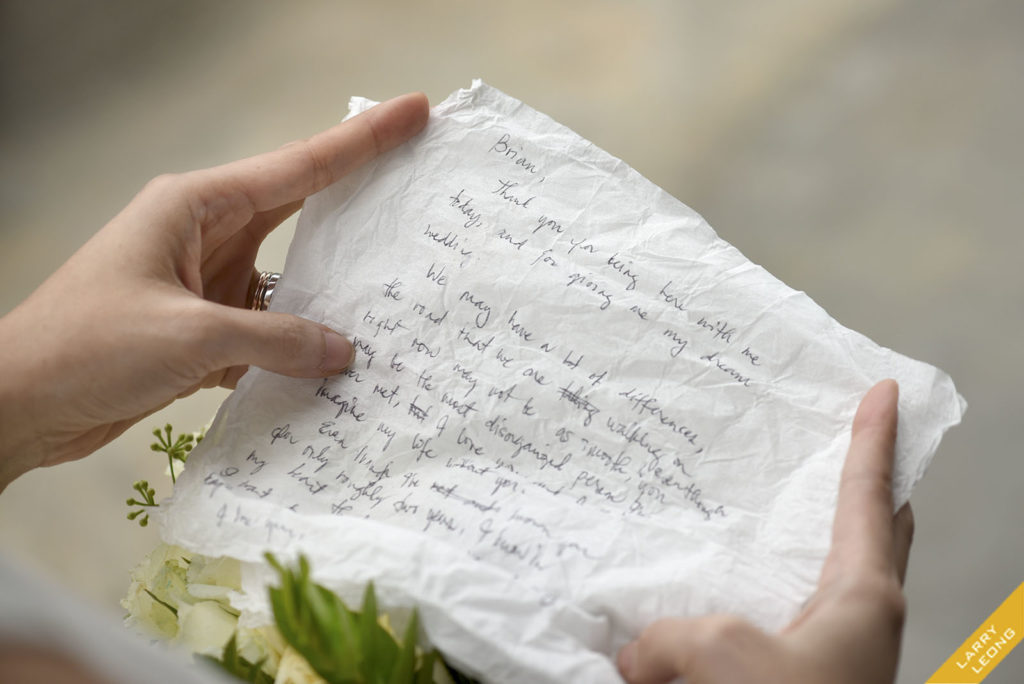 love letter marriage vow