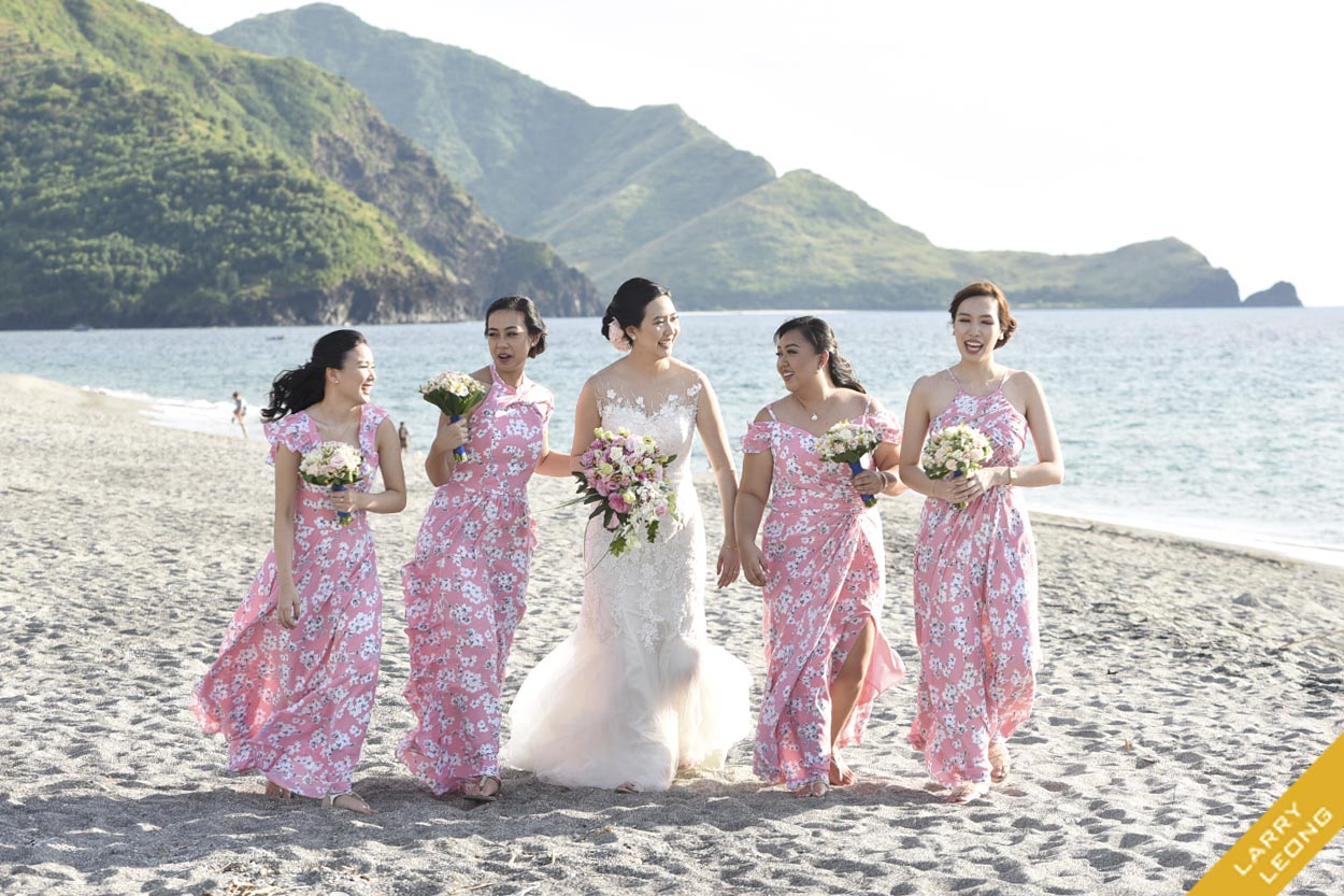 Bridesmaid Gown Beach Weddings Philippines Larry Leong